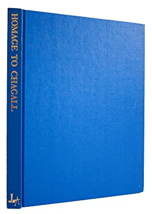 """Homage to Marc Chagall 12.5"""" x 9.75"""" Book 1982 Modernism Blue: Chagall, Marc"""