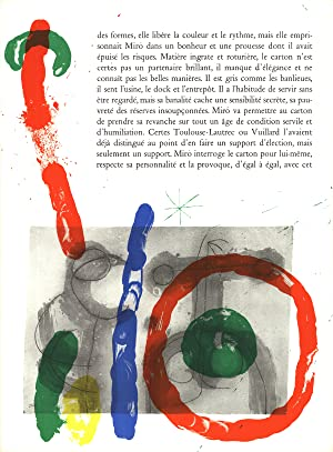 Joan Miro-Page from Derriere le Miroir, no. 151-152-1965 Mourlot Lithograph