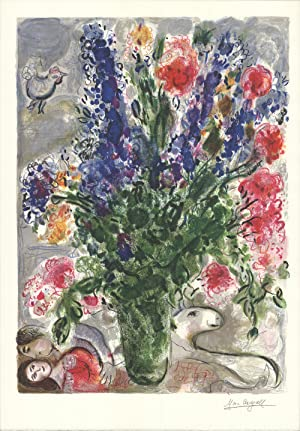 1988 Marc Chagall Les Lupins Bleus (after): Chagall, Marc