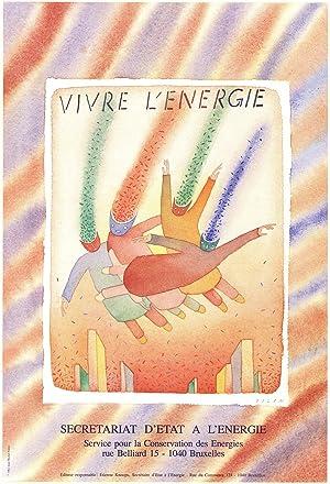 """JEAN-MICHEL FOLON Vivre L'energie 24"""" x 16.25"""": Folon, Jean-Michel"""