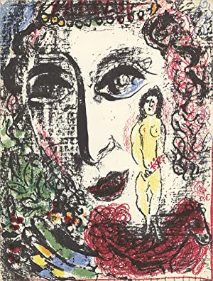 Marc Chagall-Apparition at the Circus-1963 Mourlot Lithograph: Chagall, Marc