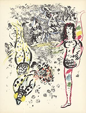 Marc Chagall-Acrobatics-1963 Mourlot Lithograph: Chagall, Marc
