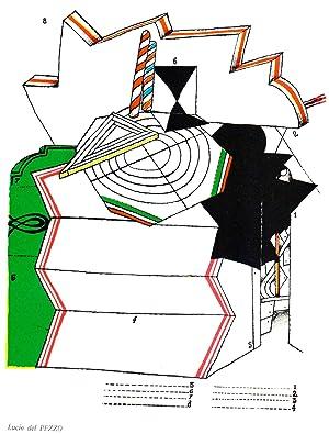 Lucio del Pezzo-Untitled composition-1967 Lithograph: del Pezzo, Lucio