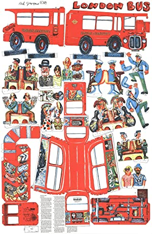 Red Grooms-London Bus-1984 Lithograph: Grooms, Red