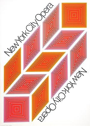 Richard Anuszkiewicz-New York City Opera-1968 Serigraph: Anuszkiewicz, Richard