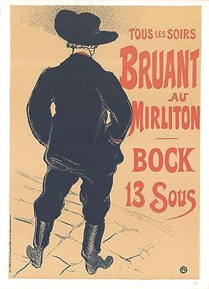Henri de Toulouse-Lautrec-Tous les Soirs Bruant au Mirliton Bock 13 Sous-1966: Toulouse-Lautrec, ...