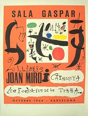 """JOAN MIRO 2 Llibres: Joan Miro i Catalunya-Les Essencies De La Terra 30.25"""" x 21.5"""" ..."""