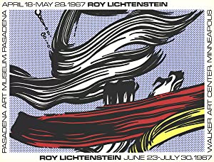 Roy Lichtenstein-Brushstrokes at Pasadena Art Museum-1967 Serigraph
