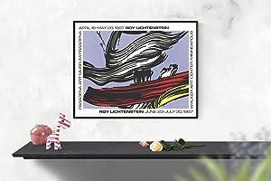"""ROY LICHTENSTEIN Brushstrokes at Pasadena Art Museum 25"""" x 33"""" Serigraph 1967 Pop Art ..."""