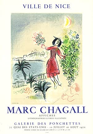Marc Chagall-Bay of Nice-1970 Mourlot Lithograph: Chagall, Marc