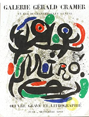 Joan Miro-Oeuvre Grave Et Lithographie-1969 Mourlot Lithograph