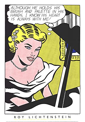 Roy Lichtenstein-Girl at the Piano-1994 Serigraph