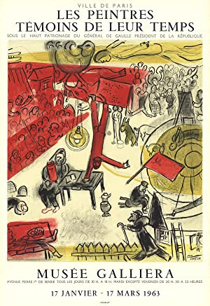 Marc Chagall-The Revolution-1963 Mourlot Lithograph: Chagall, Marc