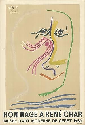 Pablo Picasso-Hommage A Rene Char-1969 Mourlot Lithograph: Picasso, Pablo