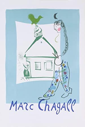 Marc Chagall-The House in My Village (before letters)-1964 Mourlot Lithograph: Chagall, Marc