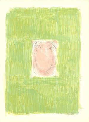 "CLAUDE GARACHE Derriere le Miroir 15"" x 11"" Lithograph 1965 Abstract Pastel, Green: Garache..."