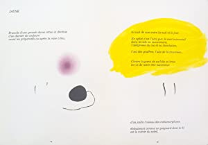 """JOAN MIRO Derriere le Miroir, no. 193-194, pg 24,25 15"""" x 22"""" Lithograph 1971 Surrealism ..."""