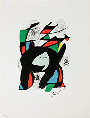 Joan Miro-Untitled from La Melodie Acide XII-1980 Lithograph
