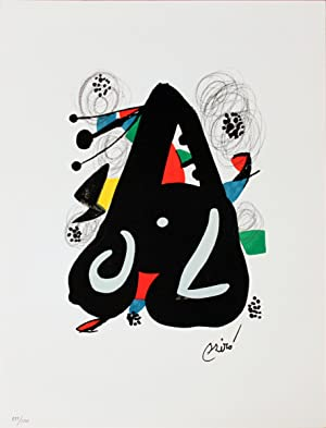 Joan Miro-Untitled from La Melodie Acide XIII-1980 Lithograph: Miro, Joan