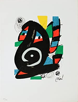 Joan Miro-Untitled from La Melodie Acide XVIII-1980 Lithograph