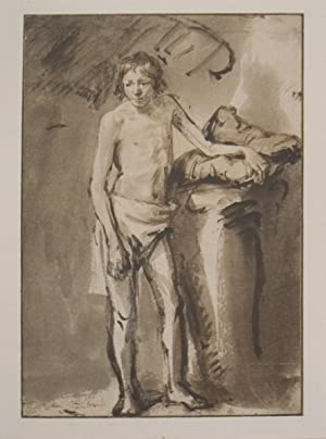 van Rijn Rembrandt-Life Study of a young man standing-1930 Lithograph