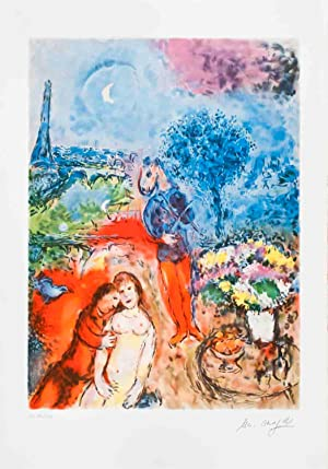 1987 Marc Chagall Serenade (after) Poster: Chagall, Marc
