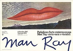 """MAN RAY A L'Heure de L'Observatoire-Les Amoureux 26.75"""" x 38.5"""" Poster 1983 ..."""