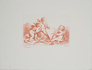 J.B. Huet-Three Cherubs-Etching: Huet, J.B.