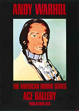 Andy Warhol-American Indian (Black)-1976 Poster: Warhol, Andy