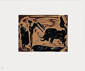 Pablo Picasso-Banderilles-1962 Linocut: Picasso, Pablo