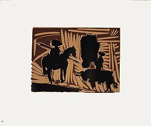 Pablo Picasso-Avant la Pique-1962 Linocut: Picasso, Pablo