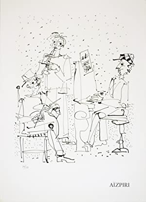 Paul Aizpiri-Les Musiciens-1970 Mourlot Lithograph: Aizpiri, Paul