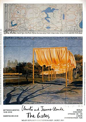 Javacheff Christo-The Gates Project for Central Park New York Collage-SIGNED