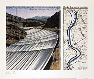 Javacheff Christo-Over the River, project for the Arkansas River-2005 -SIGNED