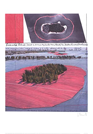 Javacheff Christo-Surrounded Islands, Biscayne Bay, Greater Miami-1995 -SIGNED