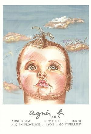 Diane Chanel-Agnes B, le Bebe Cruel-Lithograph: Chanel, Diane