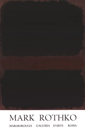 Mark Rothko-Marlborough Galleria D'arte Roma-1970 Lithograph: Rothko, Mark