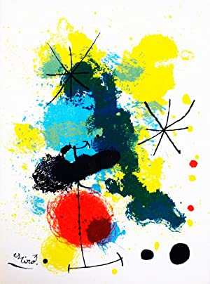 Joan Miro-Composition-1964 Mourlot Lithograph