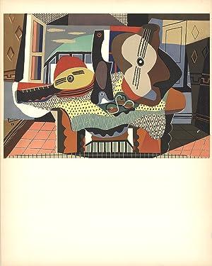 Pablo Picasso-Mandolin and Guitar-1958 Lithograph: Picasso, Pablo