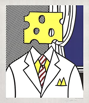 Roy Lichtenstein-Jobs Not Cheese! Moffett for Senator-1982 -SIGNED