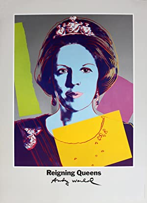 Andy Warhol-Queen Beatrix of the Netherlands, from Reigning Queens-1986 Poster