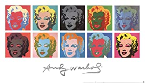 Andy Warhol-Ten Marilyns (White Background)-1997 Poster
