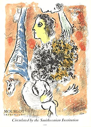 Marc Chagall-Offering to the Eiffel Tower-1964 Mourlot: Chagall, Marc