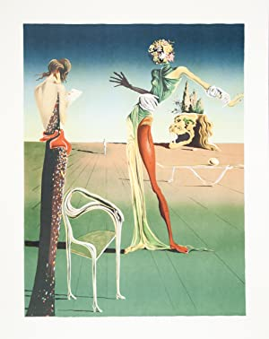 Salvador Dali-Femme a Tete de Roses (Woman with Head of Roses)-Lithograph