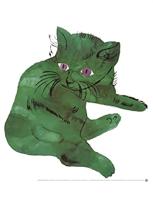 2000 Andy Warhol Cat (Green) Poster: Warhol, Andy