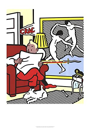 Roy Lichtenstein-Tintin Reading-1995 Poster