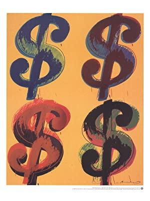 Andy Warhol-Four Dollar Sign-2000 Poster
