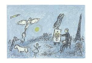Marc Chagall-Le Peintre Et Son Double-1981 Mourlot: Chagall, Marc