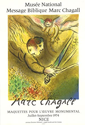 Marc Chagall-The Angel of Judgment-1974 Mourlot Lithograph: Chagall, Marc
