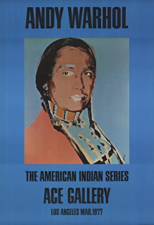 Andy Warhol-American Indian (Blue)-1977 Poster